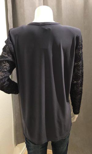 Plus Size Bluse Grå