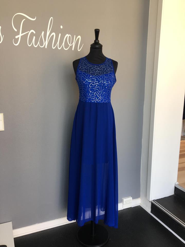59496953181 Luna L887 Gallakjole blå - Ladies Fashion