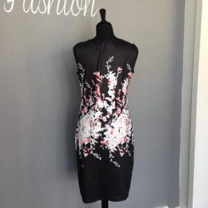 Ashley L216 Kjole med print Sort