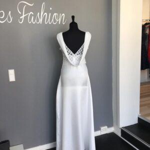 Luna L143 Lang kjole Hvid