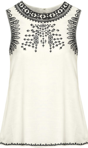 Capri Collection Mabel Top Creme / Sort