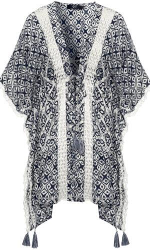 Capri Collection Cassia Kimono Blå/Creme