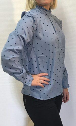 Papaya Bluse lys blå