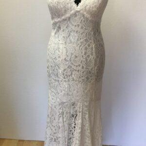 Diva Fashion L8386 Gallakjole Hvid