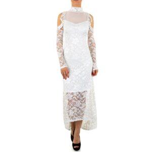 Voyelles L0761 Blonde kjole Hvid