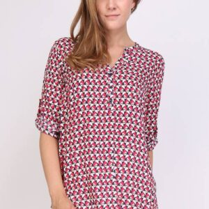 Christy Bluse Sort/Pink