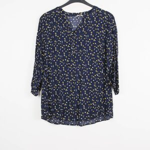 Christy Bluse Marineblå med print