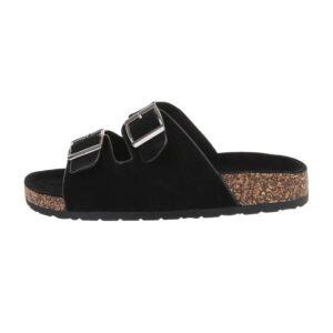 Seastar Flad Sandale Med Spænder Sort