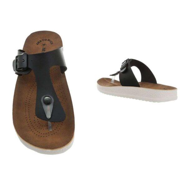 Flade sandale sort