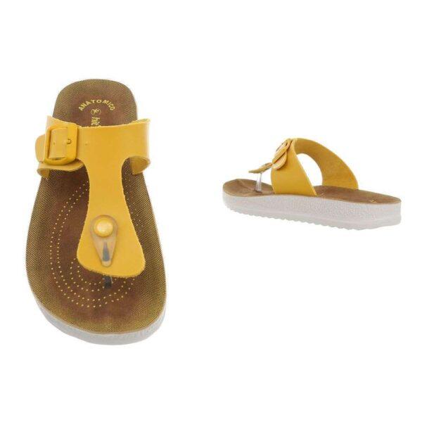 Flade sandale gul